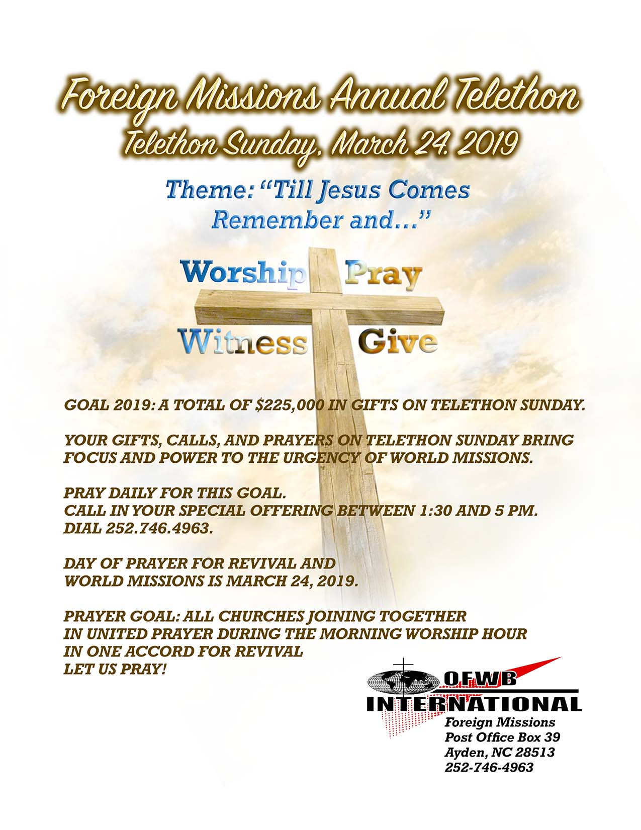 Annual Telethon | OFWB International